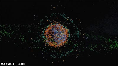 Enlace a Simulación de la basura espacial de los últimos 30 años