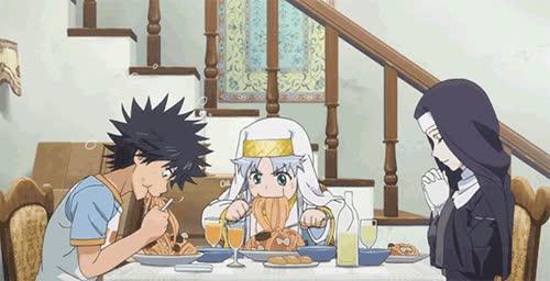 Enlace a ¿Bendecir la mesa? Lo siento pero yo tengo hambre ahora...