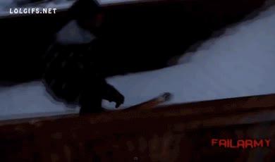 Enlace a Hacer un salto genial con los esquís cuando de repente...