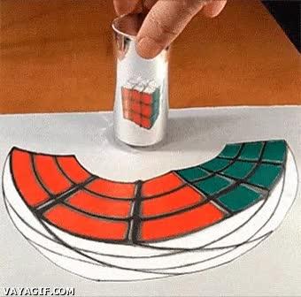 Enlace a Ilusión óptica de un cubo de Rubik