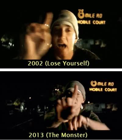 Enlace a Eminem, auto-homenajeándose en sus videoclips