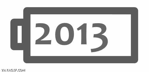 Enlace a Ya le queda bien poquito al 2013, ¡corre a buscar el cargador!