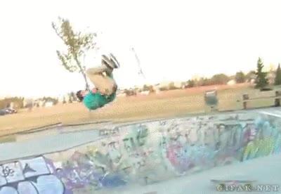 Enlace a Backlip épico y cambio de skate