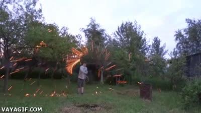 Enlace a ¿Quién necesita fuegos artificiales cuando tienes una cuerda?