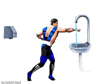 Enlace a Lavado de manos estilo Mortal Kombat