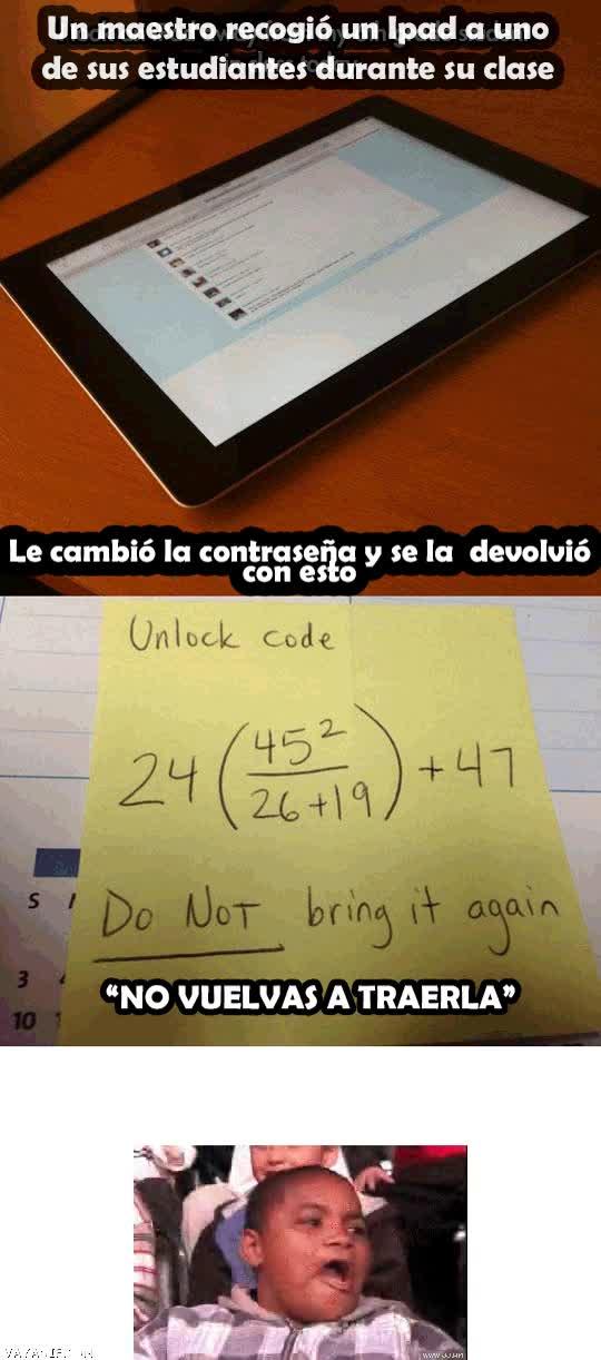 Enlace a Buenos profesores, de una u otra forma aprenderás matemáticas