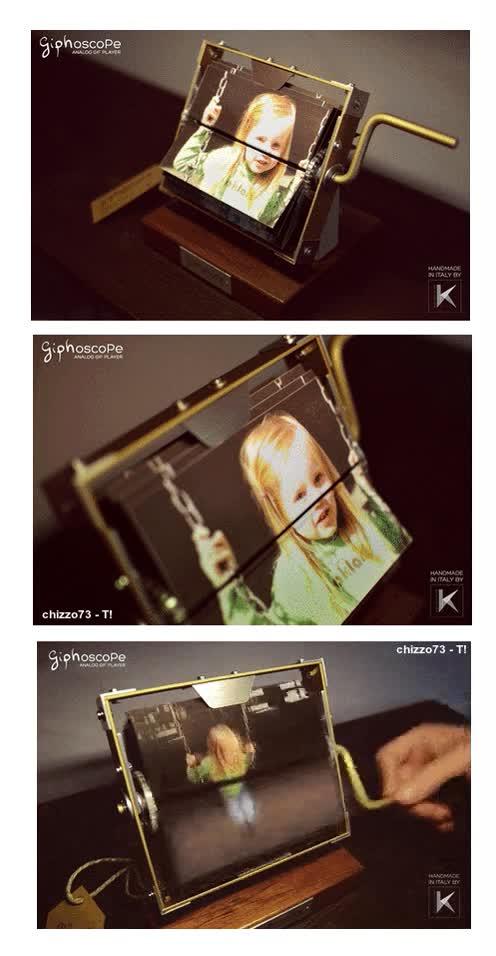 Enlace a Giphoscope, portarretratos que nos brinda un gif con fotografías