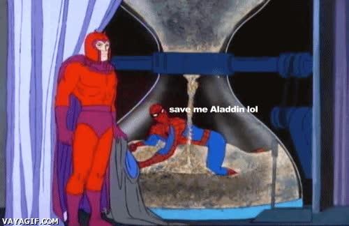 Enlace a Spiderman está en problemas y sólo Aladdin puede ayudarle esta vez