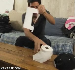 Enlace a Si te quedas sin papel higiénico...