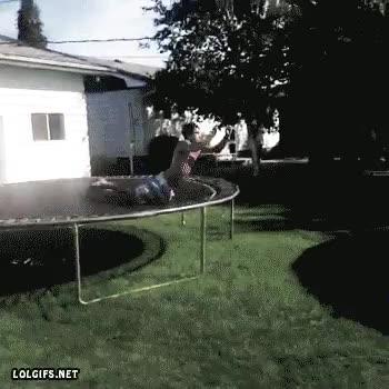 Enlace a Entrada triunfal a una piscina desde una cama elástica