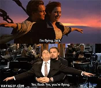 Enlace a Leonardo DiCaprio es bueno recreando escenas