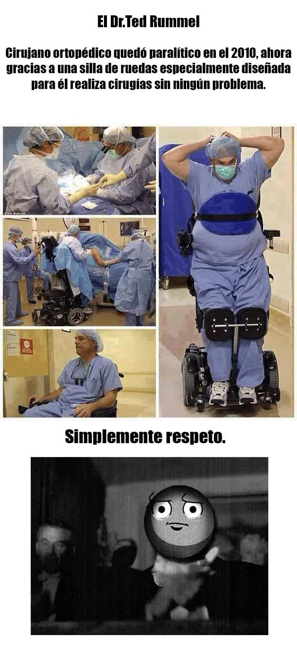 Enlace a Cirujano en silla de ruedas