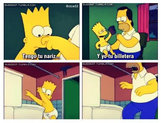 Enlace a Hay quién dice que la maldad se aprende, excepto en el caso de Bart Simpson