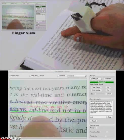 Enlace a Pequeño aparato que copia palabras de un libro y lo transfiere al ordenador