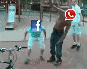 Enlace a La caída de Whatsapp, definición gráfica