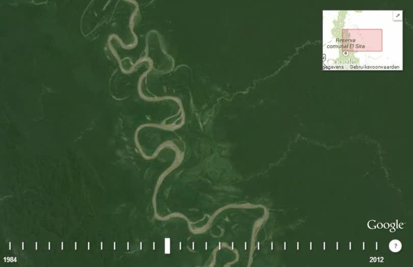 Enlace a Como cambia el cauce de los ríos con el paso de los años