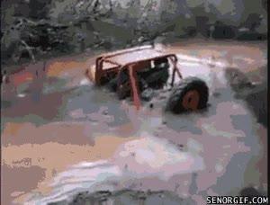 Enlace a ¿Que mi Jeep no es capaz de cruzar este pequeño charquito? Ahora verás...