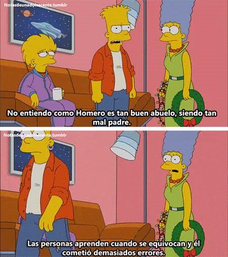 Enlace a Las personas aprenden con los errores, y Homer ha cometido tantos...