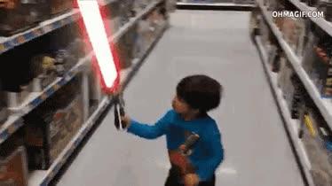 Enlace a Una razón de por que no complarle una espada láser a un niño