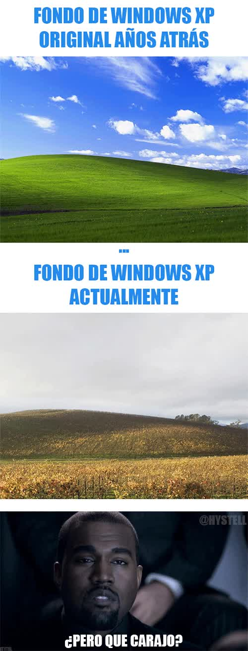 Enlace a El fondo de escritorio de Windows antes y ahora