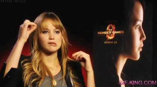 Enlace a Jennifer Lawrence y su espontaneidad