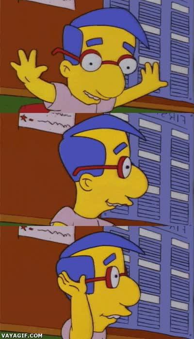 Enlace a El único futuro que le veo a Milhouse, trabajar de aspersor