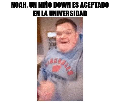 Enlace a La reacción de un chico con Síndrome de Down al ser aceptado en la universidad