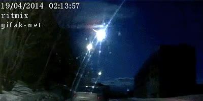 Enlace a Otro meteorito cayendo en Rusia