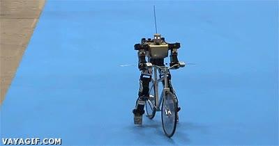 Enlace a Ir en bici es fácil, hasta los robots saben hacerlo