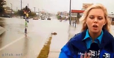 Enlace a Lo último que te esperas encontrar haciendo un reportaje en directo sobre las inundaciones