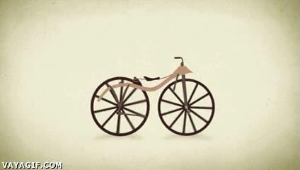 Enlace a La historia de la bicicleta en un gif