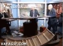 Enlace a El típico debate tranquilo y pacífico en una tele de Jordania