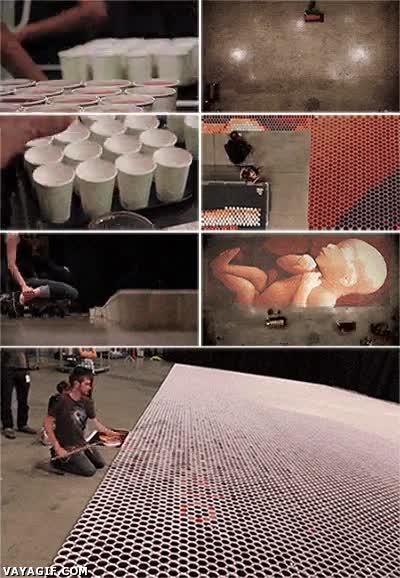 Enlace a Obra de arte creada a partir de café