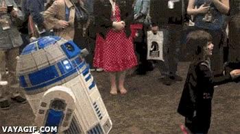Enlace a Esto sí que es  una verdadera sorpresa para esta pequeña fan de Star Wars
