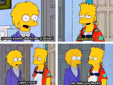 Enlace a Bart Simpson sabe lo que quiere