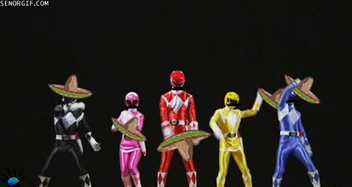 Enlace a Los Power Rangers dan todo su apoto a la selección mexicana en el partido de esta noche