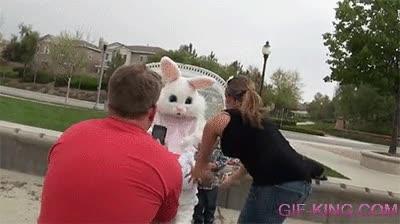 Enlace a Este conejito de Pascua no sería el mejor canguro para tus hijos