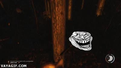 Enlace a ¿Así que estás muy cómodo en ese árbol, eh monstruo? Pues ahora verás...
