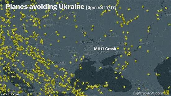Enlace a Aviones evitando Ucrania actualmente