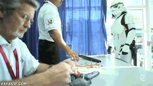 Enlace a Así se trabaja en la película de Star Wars
