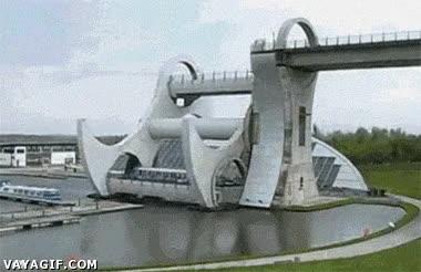 Enlace a La Rueda de Falkirk en Escocia, ingeniería en estado puro