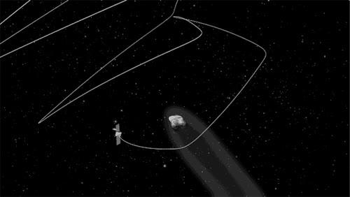 Enlace a La órbita al cometa que ha conseguido establecer este satélite