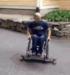 Enlace a Skater en silla de ruedas. Y después tú te quejas