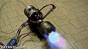 Enlace a Motor de un minijet casero