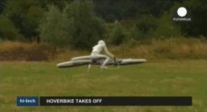 Enlace a ¿Bicis voladoras? Una empresa está desarrollando una hoverbike como ésta