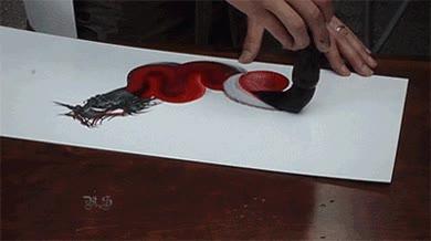 Enlace a Un dragón en el mismo trazo