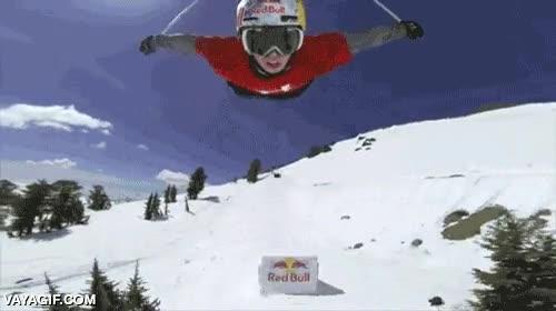 Enlace a Prácticamente volando con los esquís