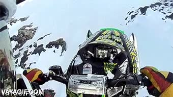Enlace a I believe I can fly! Con mi moto de nieve, claro
