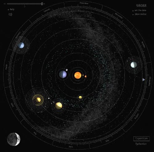 Enlace a Así se mueve nuestro sistema solar