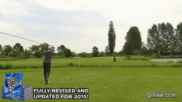 Enlace a Jugando a golf con el palo más largo del mundo